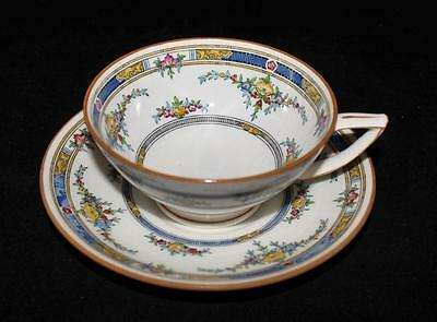 Minton PRINCESS (Yellow Flower) K109, Footed Cup & Saucer Set