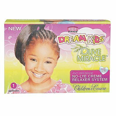 African Pride Dream Kids Olive Miracle No-Lye Creme Relaxer Coarse