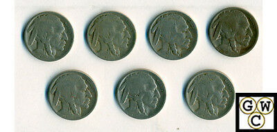 1925-S  Buffalo Coins Good-Very Good (Lot of 7 coins)