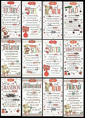 QUALITY ~ CHRISTMAS CARD ~ CHOICE OF TITLE & DESIGNS ~ with FAB VERSES