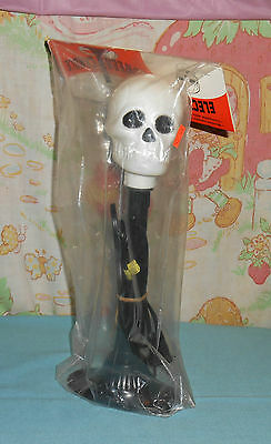 vintage HALLOWEEN SKULL ELECTRIC CANDLE candolier light up decoration