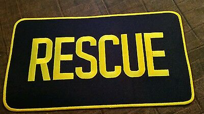 Large RESCUE Iron  On Patch