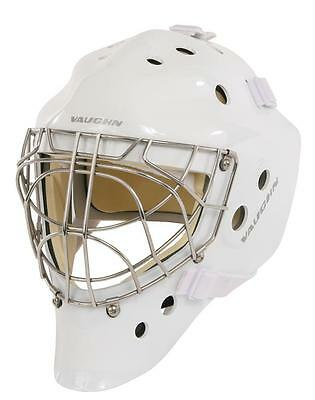 New Vaughn 7700 Cat Eye goal helmet white senior medium ice hockey goalie mask