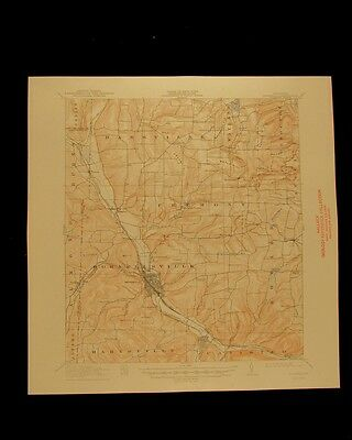 Hornell New York vintage 1950 original USGS Topographical chart