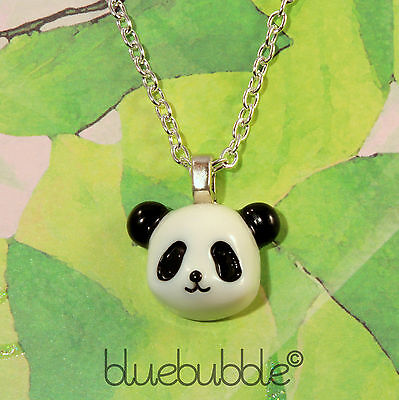 Funky Lucky Panda Bear Necklace Cute Kitsch Retro Novelty Cartoon  Kawaii Animal