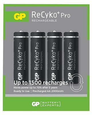 Gp Batteries Recyko+ Pro Pre-charged Aa 2000mah Ni-mh Batteries (4 Pack)