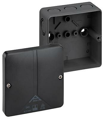 Spelsberg Abox Polycarbonate Junction Box In Black 94x94x56mm (lxwxh)