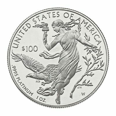 "1 oz USA 2016 Platin ""American Eagle"" - Polierte Platte Limited Edition .9995 Pl"