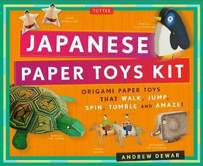 Japanese Paper Toys Kit: Origami Paper Toys That Walk, Jump, Spin, Tumble and Am