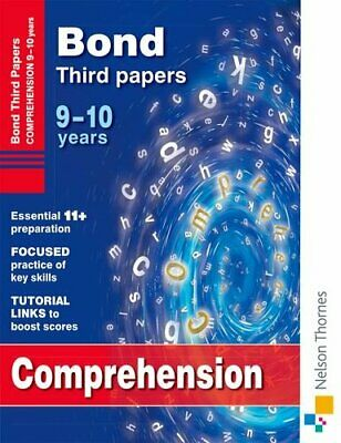 Bond Comprehension Third Papers 9-10 Years (B... by Hughes, Michellejoy Pamphlet