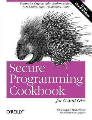 Secure Programming Cookbook for C and C++ by John Viega (English) Paperback Book