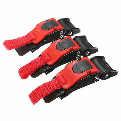 New 3Pc Motorcycle Bike Helmet Chin Strap Speed Sewing Clip Quick Release Buckle