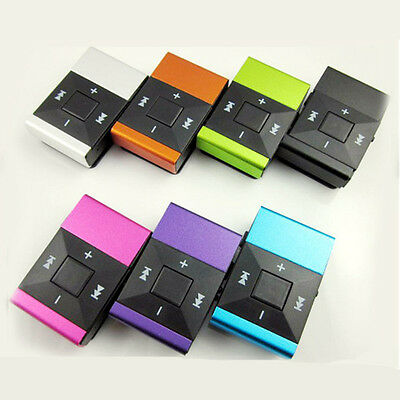Light Clip USB MP3 Player Support Micro SD TF Card Music Media Mini Speaker US