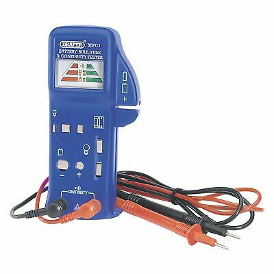 Draper AAA / AA 9V Battery Bulb Fuse And Continuity Tester/Testing Tool - 57574