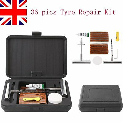Emergency Car Van Tubeless Bike Quad Tyre Tire Puncture Repair Kit with 30 Strip