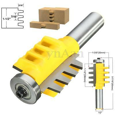 "1/2"" Shank Reversible Finger Joint Glue Joint Router Bit Woodwork Cutter Tool"