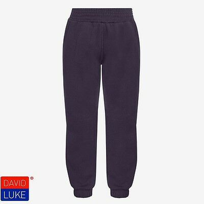 Plain Navy Jogging Bottoms Joggers Children Boys Girls Sizes By  David Luke