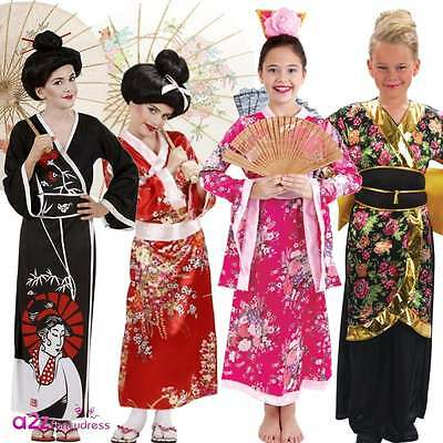 Japanese Geisha Girls Oriental Chinese Fancy Dress Costume Eastern Far East