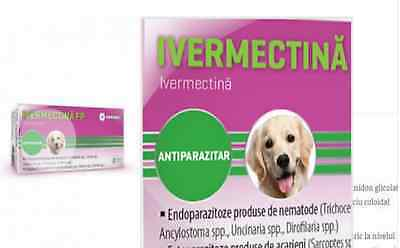 Ivermectin Tablets Dewormer Allwormer for Dogs mites mange heart  Antiparasitic