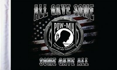 """Pro Pad All Gave Some POW MIA Motorcycle Flag 6""""x9"""""""