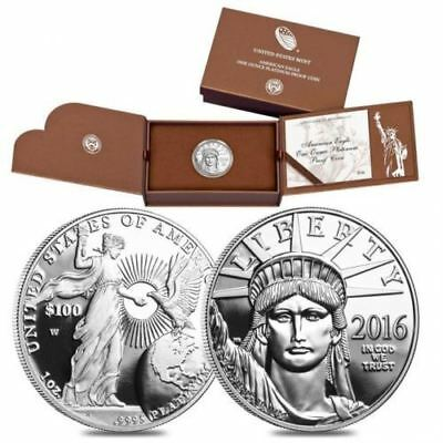 2016 Platinum American Eagle - 1 Oz. Proof Coin - In Original Mint Packaging