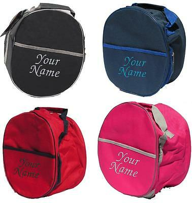 PERSONALISED EMBROIDERED RHINEGOLD RIDING HAT BAG - horse pony tack show boot
