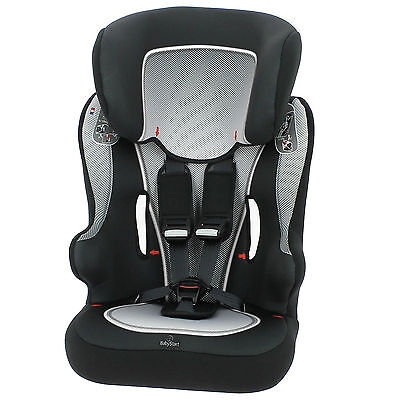 Babystart Racer Sp Group 1,2,3 Car Seat - Black White From 9 Months - 11 Years