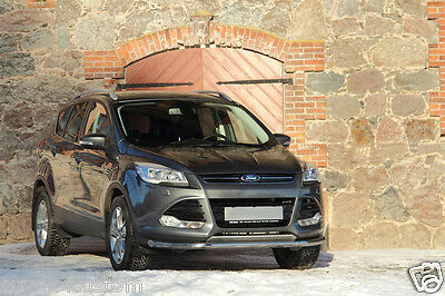 PARE BUFFLE, BARRE SOUS PARE CHOC POUR FORD KUGA 2013- INOX DIA 60mn