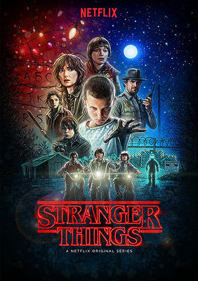 Stranger Things Poster Print Borderless Stunning Vibrant Sizes A1 A2 A3 A4