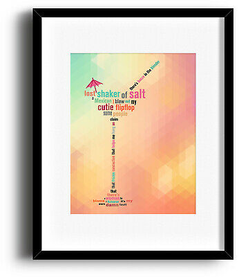 MARGARITAVILLE JIMMY BUFFETT Poster Song Custom Lyric Art (Prints Canvas Signs)