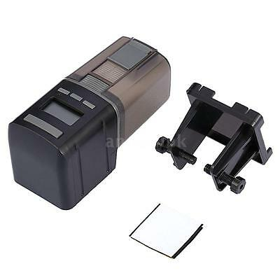 NEW Aquarium Fish Tank LCD Display Automatic Fish Feeder Adjustable Outlet H0H7