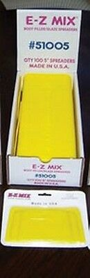 "E-Z MIX Plastic Filler/ Glaze Spreaders, 5"" Body Filler/glaze Spreaders New!"