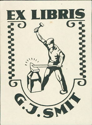 G J Smith. Iron Forger  bookplate JD.49