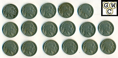 1921 Buffalo Coins Good+ -- Fine/Very Fine (Lot of 17 Coins)