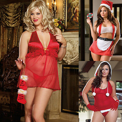 Queen One Size Plus Chistmas Lingerie Choice of 3 Styles