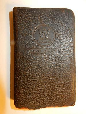 Antique 1920S Art Deco Leather 1920 Diary Book By Westinghouse Electric Unused
