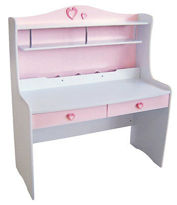 Princess Study Desk (White or Pink) Computer Kids Girls  Childrens Limited Stock