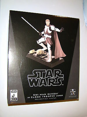 Gentle Giant Star Wars Obi-Wan Kenobi In Clone Trooper Armor Statue New MIMB
