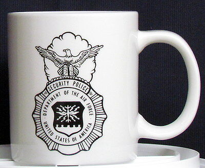 USAF Security Police Shield on a 17 oz Coffee Mug
