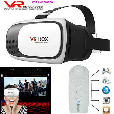 2nd 3D VR Box 3D Brille Virtual Reality  für iPhone6S 6 5 S 5C 4S HTC SONY DHL