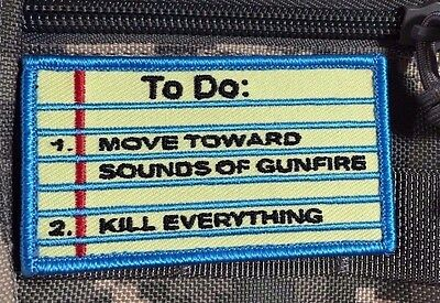 To Do list patch Morale tactical Army military Notes yellow sticky HOOK and LOOP