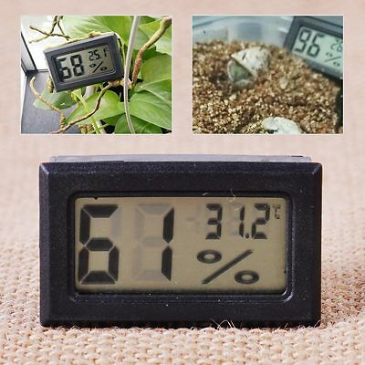 RectangleDigital Cigar Hygrometer Thermometer Humidity Monitor Meter Fit Humidor