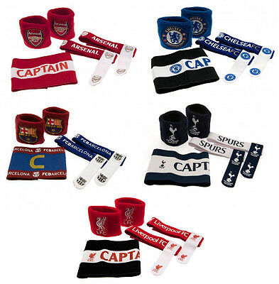 Official Football Club - ACCESSORIES SET (Wristbands/Armband/Sock Ties) Gift