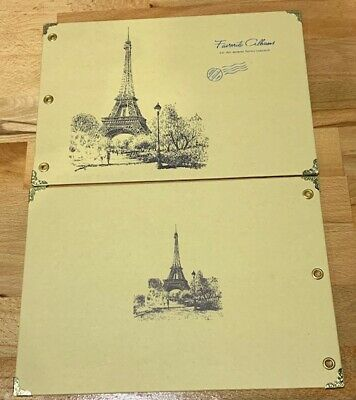 DIY 30Pages 29.7cm x 19.5cm Kraft Paris Tower Photo Album Wedding Scrapbook