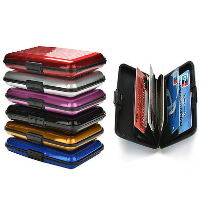 Blocking Hard Case Wallet Credit Card Anti-RFID Scanning Protect Holder RMAU