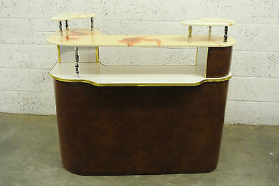 Vintage Retro 1960s Cocktail Cabinet with Marble top with three tiers