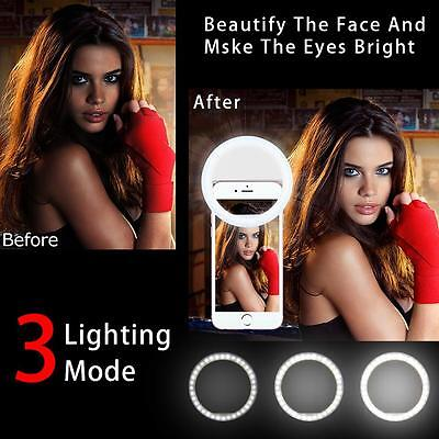 US Selfie Flash LED Phone Camera Photography Ring Fill Light For iPhone Samsung