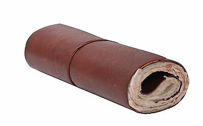 Roll Up Leather Journal Travel Scroll Diary Hand Made Travelers Notebook