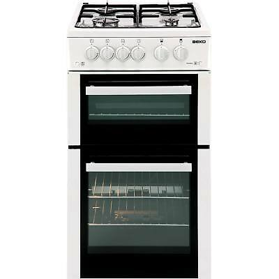 Beko BDVG592W A 50cm Double Oven Gas Cooker with 4 Burners in White New