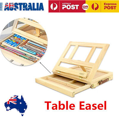 Portable Wooden Artist  Painting Desk Easel Sketching & Storage Drawer